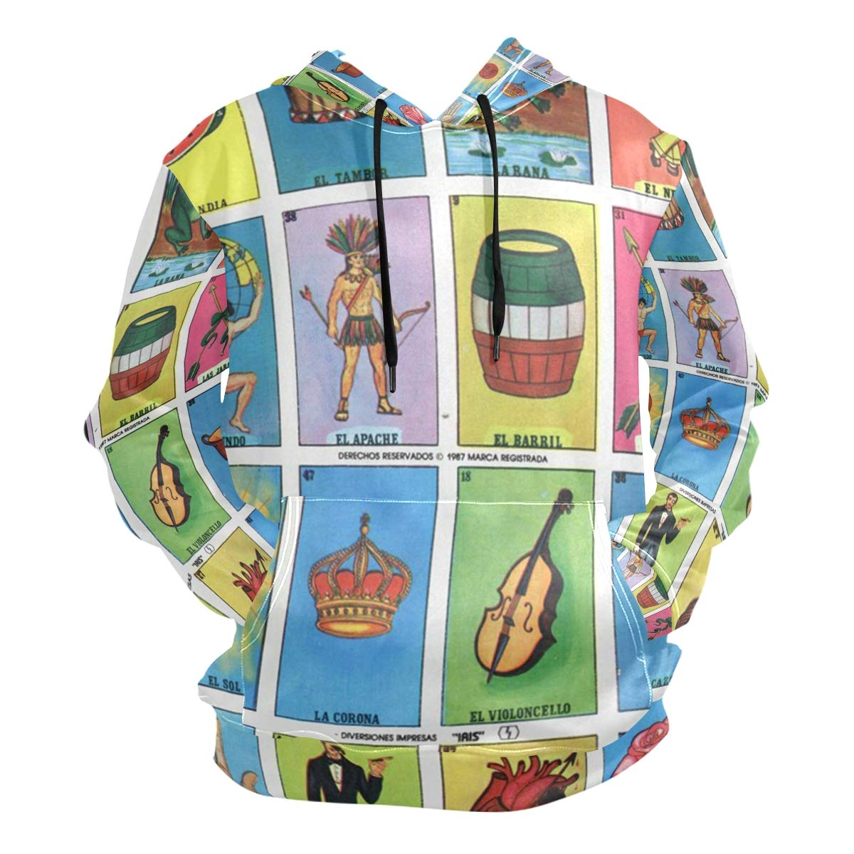 image about Loteria Cards Printable named : Loteria Playing cards Printable 3D Printing Mens Hooded