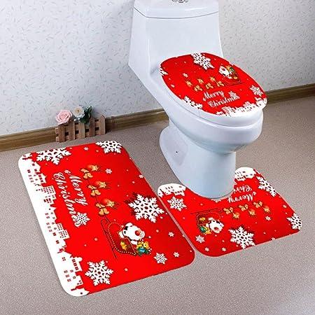 Colorful Tm 3pcs Set Christmas Bathroom Decor Non Slip Blue Ocean
