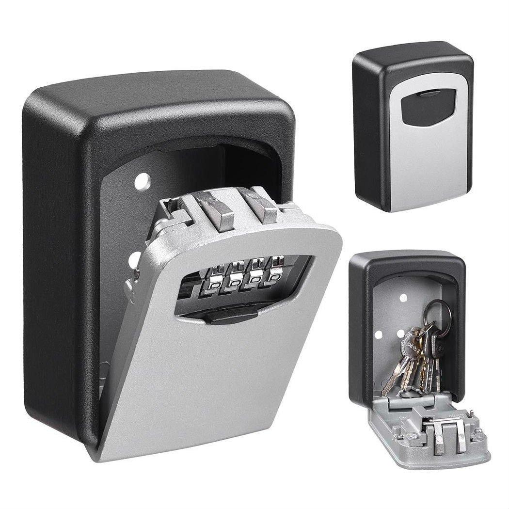 4桁の組み合わせキーロックボックス壁マウント安全セキュリティストレージケースオーガナイザー B07G4BQ2X1