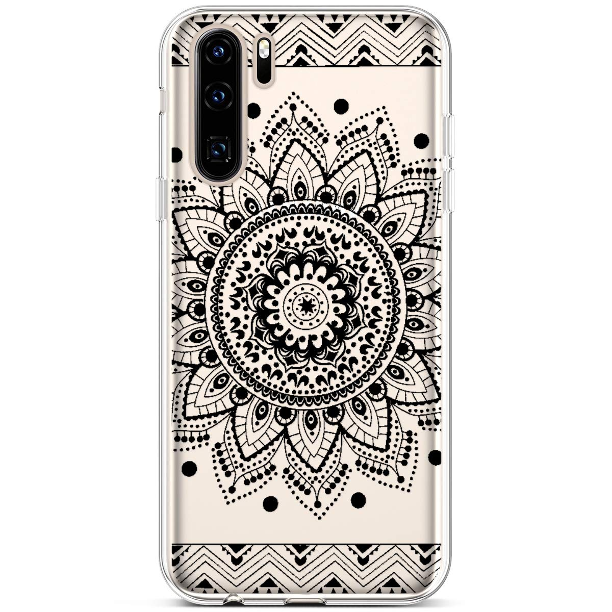PHEZEN Huawei P30 Pro Case,Slim Shockproof Cute Amusing Whimsical Design Crystal Clear TPU Case Ultra Thin Soft Silicone Rubber Cover Bumper Phone Case for Huawei P30 Pro Peach Blossom