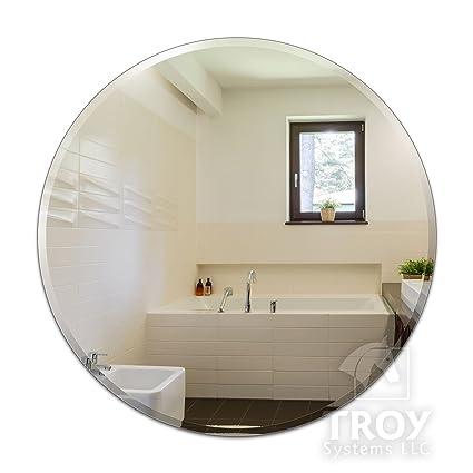 42 round mirror 48 inch regency round frameless mirror size 36quot amazoncom 36