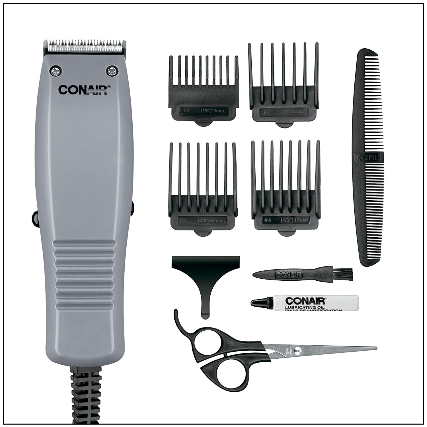 Conair 10-piece Simple Cut Haircut Kit, Home Hair Cutting Kit