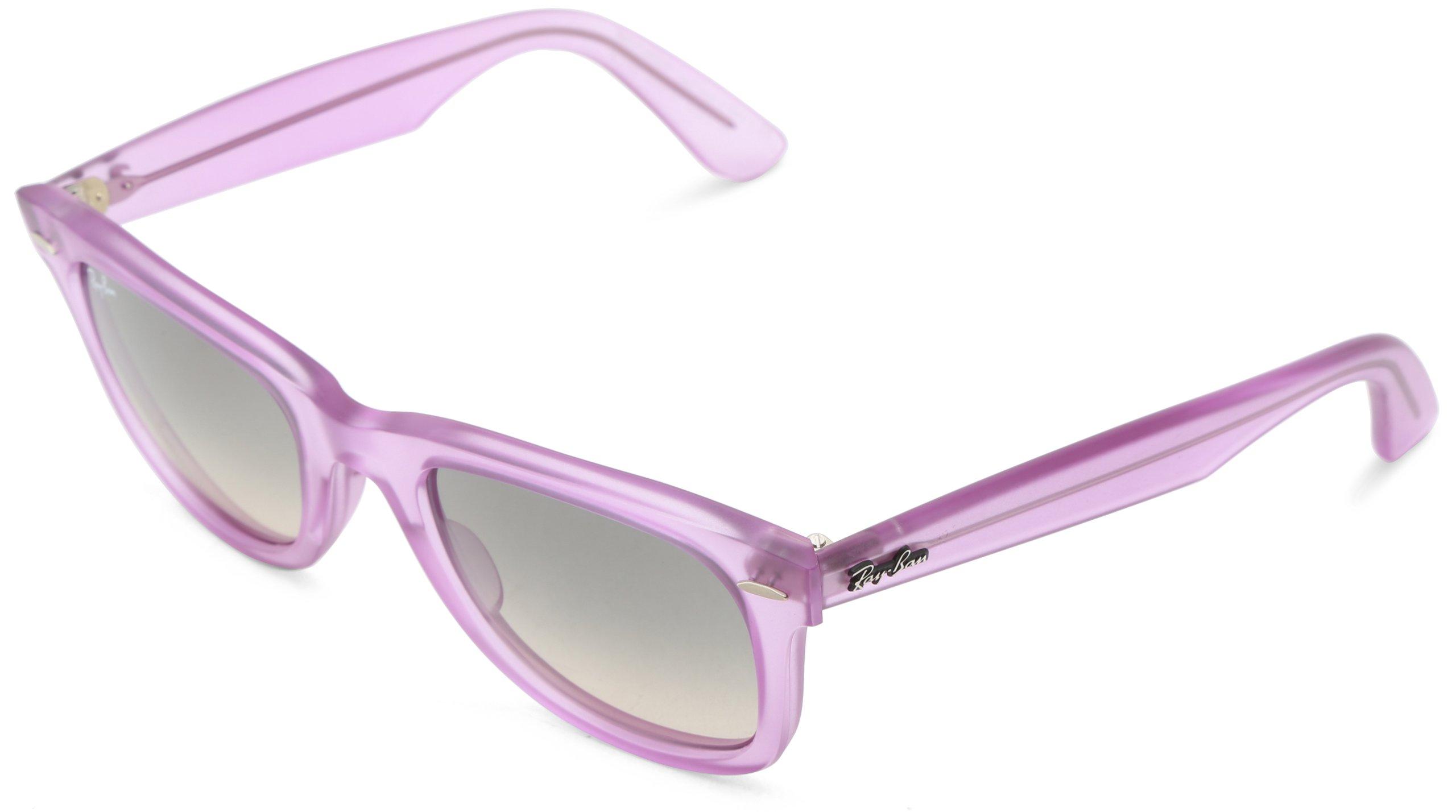 Ray-Ban 0RB2140 Original Wayfarer Sunglasses, Demi Gloss Violet, 50mm