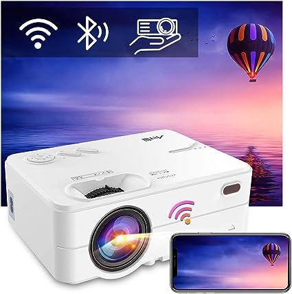 Proyector Portatil WiFi Bluetooth 6500 Lúmenes, Artlii Enjoy2 Mini Proyector Soporta 1080p Full HD, 300