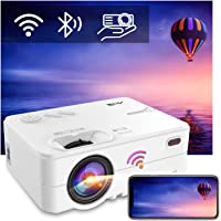 "Beamer WiFi Bluetooth, Artlii Enjoy2 Mini Beamer 1080p Full HD Ondersteund, 6000 Lumen Max 300""Scherm,Compatibel met iOS…"
