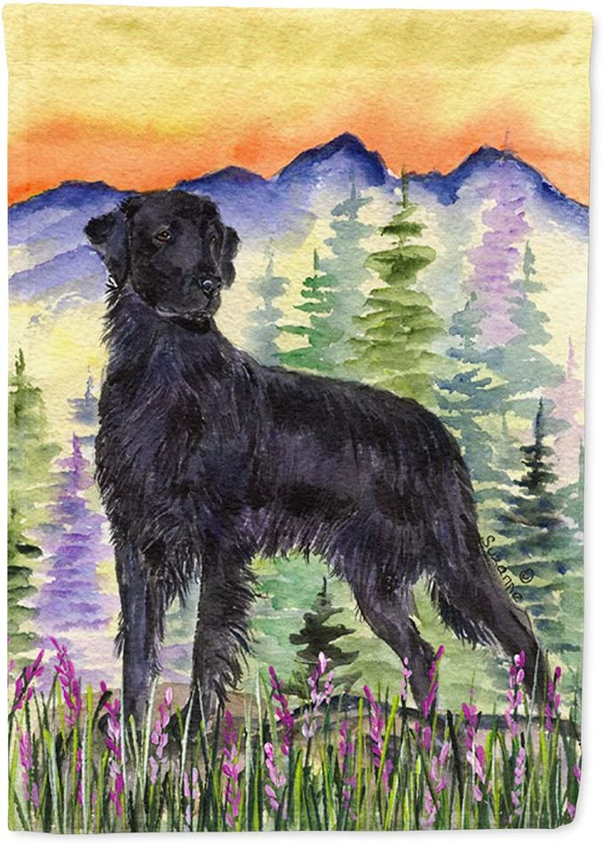Caroline's Treasures SS8263GF Flat Coated Retriever Flag Garden Size, Small, Multicolor