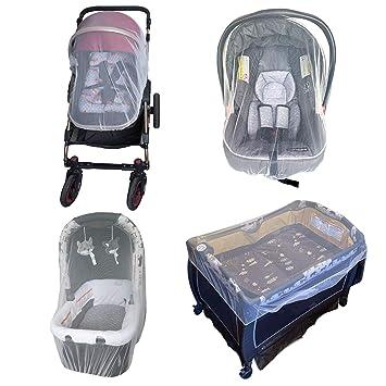 Bassinet Mosquito Net for Baby Carriage Stroller net Cover 2 Pack Stroller Netting Infant Carseat Mosquito Net for Crib Pack and Play Playpen