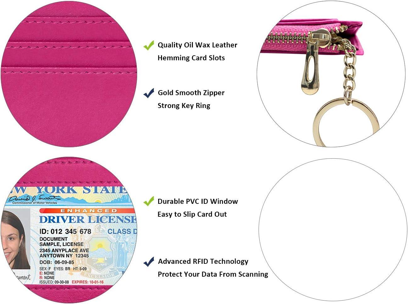 Credit Card Holder Front Pocket Wallet for Men Women RFID Pocket Wallet Minimalist Super Thin 5 Card Wallet Brown