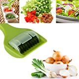 Multifunction Kitchen Vegetable Dicer Cutter With 9 Sharp Stainless Steel Roller Blade For Chopping Herb Onion Scallion Garlic ( Color : White )