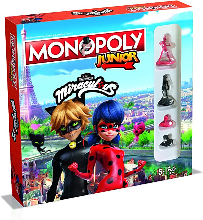 Winning Moves WIN45601 Miraculous - Monopoly Junior: Amazon.es: Juguetes y juegos