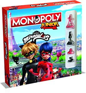 Winning Moves WIN45601 Miraculous - Monopoly Junior: Amazon.es: Juguetes y juegos