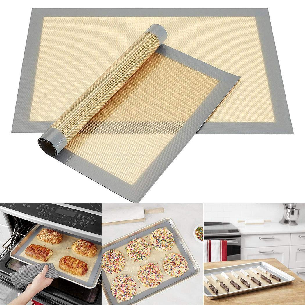 Idomeo New Home Kitchen Reusable Non Stick Cooking Liner Oven Grill Baking Mat Sheet
