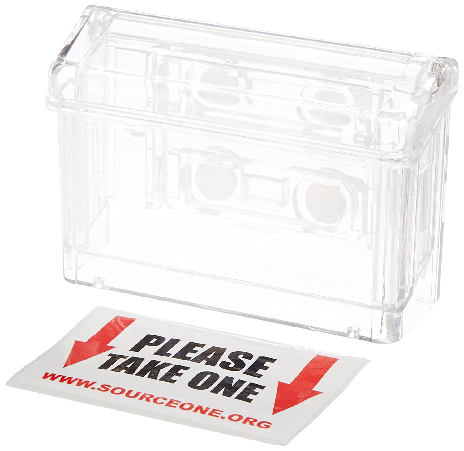 amazon com source one llc clear outdoor magnetic business card