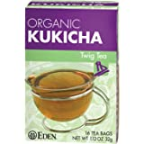Eden Twig Tea, Tea Bags, Kukicha, Eden Organic 1.12-Ounce Boxes (Pack of 12)