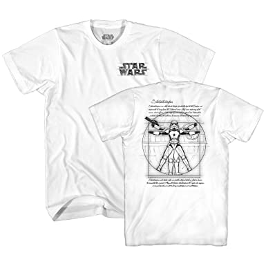 0122ee57b Amazon.com: Star Wars Vitruvian Man Stormtrooper Storm Trooper da Vinci  Funny Tee Adult Mens Graphic T-Shirt: Clothing