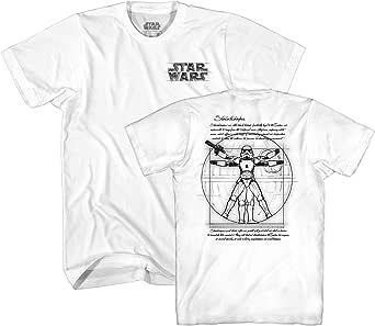 STAR WARS Vitruvian Man Storm Trooper Leonardo da Vinci Funny Tee Adult Mens Graphic T-Shirt