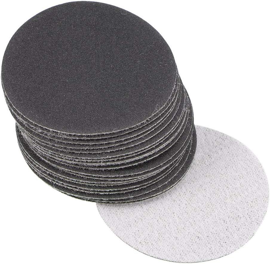 "4/"" Dia Polishing Round  Sanding Flocking Sandpaper Disc  400 Grit 50 Pcs"