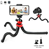 Tripods Phone, Prowithlin 12inch Flexible Adjustable Tripod for iPhone X 8 Plus,Samsung S9,Waterproof Anti-Crack Camera Tripod GoPro,360 Degree Camera Time-Lapse Photography