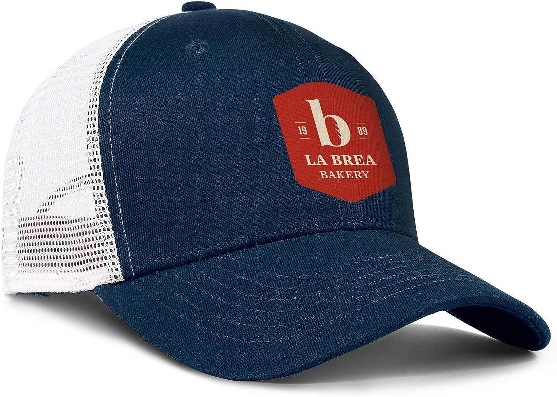 ChenBG Unisex La Brea Bakery Adjustble Baseball Cap Dad Cap Mesh Trucker Hat