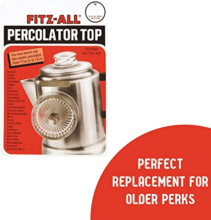 Pair of Glass Replacement Tops For Percolator Coffee Pot Universal Fit  NIB