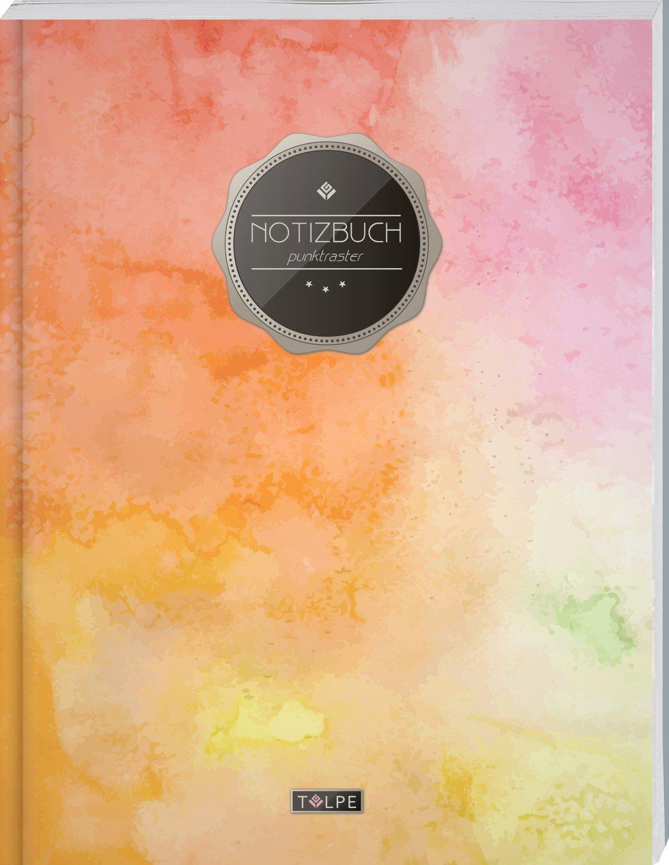 """TULPE Punktraster Notizbuch A4 """"C072 Bunte Wände"""" (140+ Seiten, Vintage Softcover, Punktkariertes Papier - Bullet Journal, Dickes Notizheft, ... Gepunktete Seiten, Dot Grid Notebook)"""