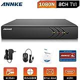 ANNKE 8CH Full 1080N DVR Enregistreur 5-en-1 Kit Sécurité Vidéo Surveillance Accès à distance QR code Sans Disque Dur