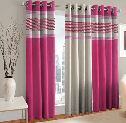Buy Home Cloud Long Door Curtains 9 Feet Set Of 3 - Curtains For ...