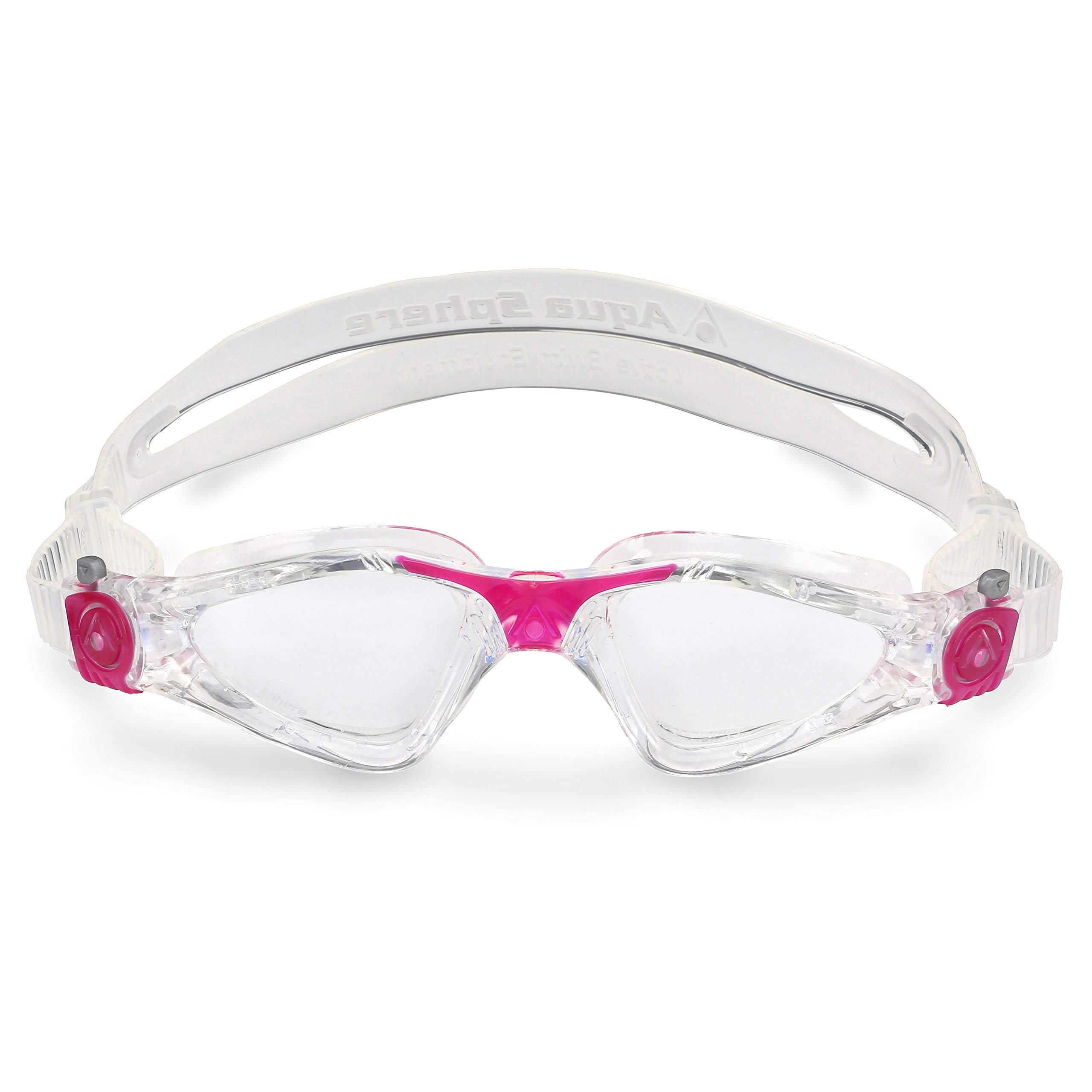Aqua Sphere Kayenne Ladies with Clear Lens (Trasp/Fuxia) Swim Goggles for Women by Aqua Sphere (Image #2)