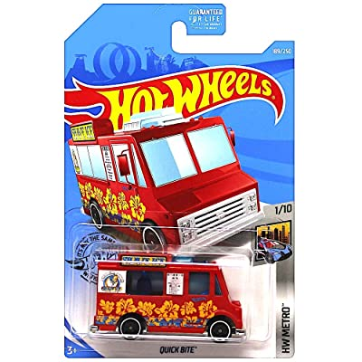 Hot Wheels 2020 HW Metro Quick Bite (Food Truck) 189/250, Red: Toys & Games