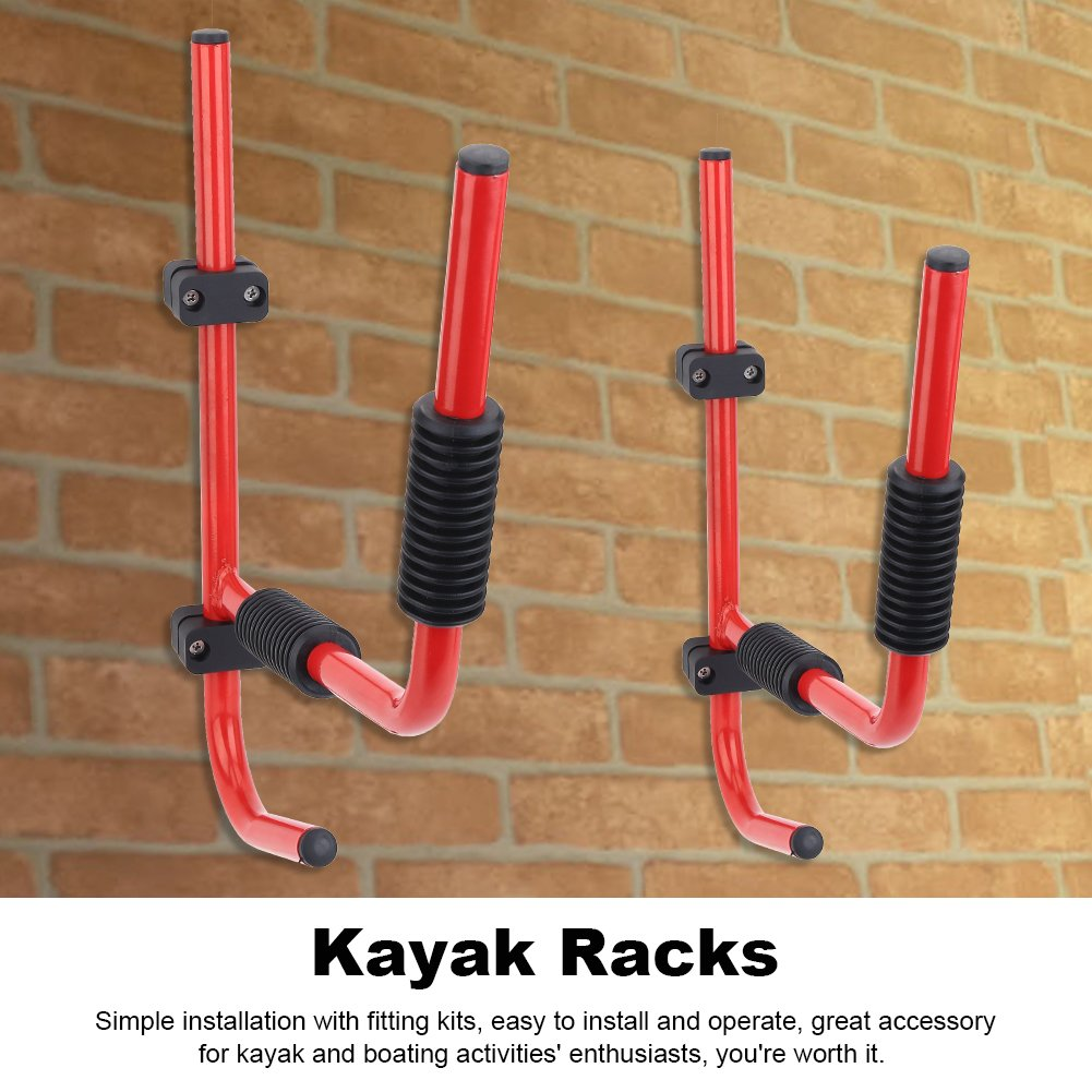 Estink Kayak Rack, 2Pcs Heavy Duty Canoe Kayak Wall Mount Rack Kayak Storage Hanger Supporter Carrier Surfboard Holder Wall Bracket by Estink (Image #3)