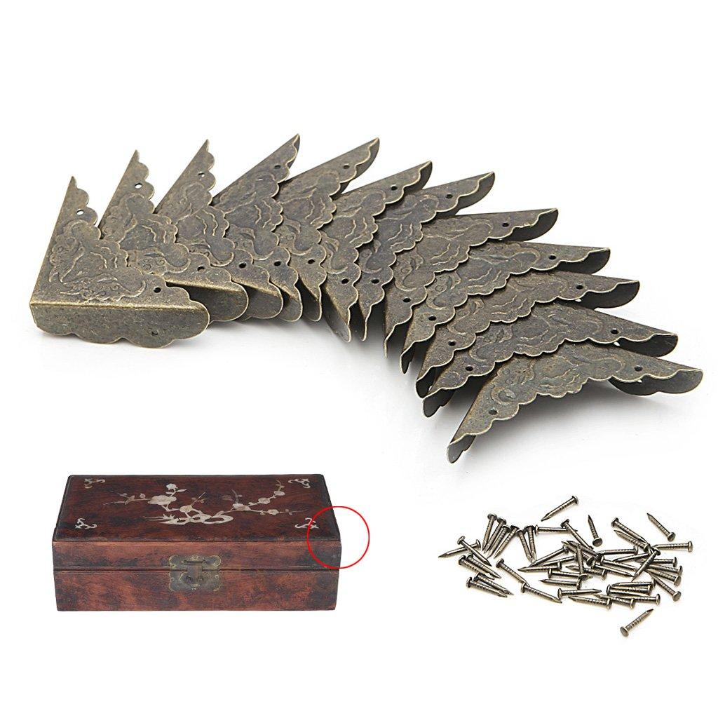 BIlinli 12x Bronce Joyas Decorativas Caja de Regalo Protector de ...
