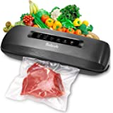 Vacuum Sealer Machine 3-in-1 Automatic for Food Saver Storage Preservation with 10 Bags Starter Kit Built-in Cutter Dry…