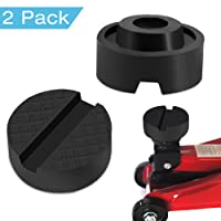 WEBSUN Rubber Jack Pads Universal Slotted Frame Rail Protector Block Car Motorbike Trolley Jack Workshop Tool (2 Pack)