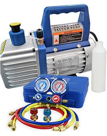 F2C 4CFM 1/3 HP Air Vacuum Pump HVAC Refrigeration KIT A/C Manifold