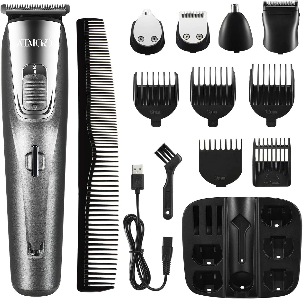 ATMOKO 5 in 1 Beard Trimmer Cordless  Facial Trimmer and Body Groomer Set WAS £29.99 NOW £9.99 w/code 8SIGM6HP @ Amazon