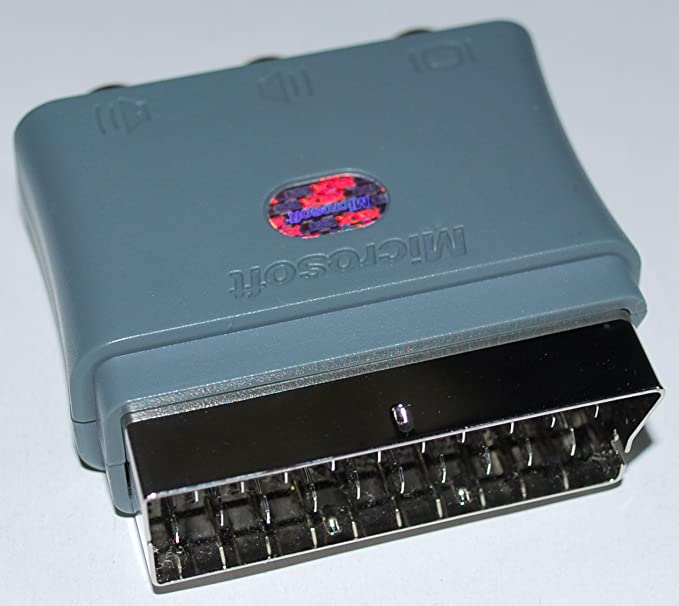 official microsoft XBOX 360 AV Scart Block Adapter: Amazon.co.uk ...