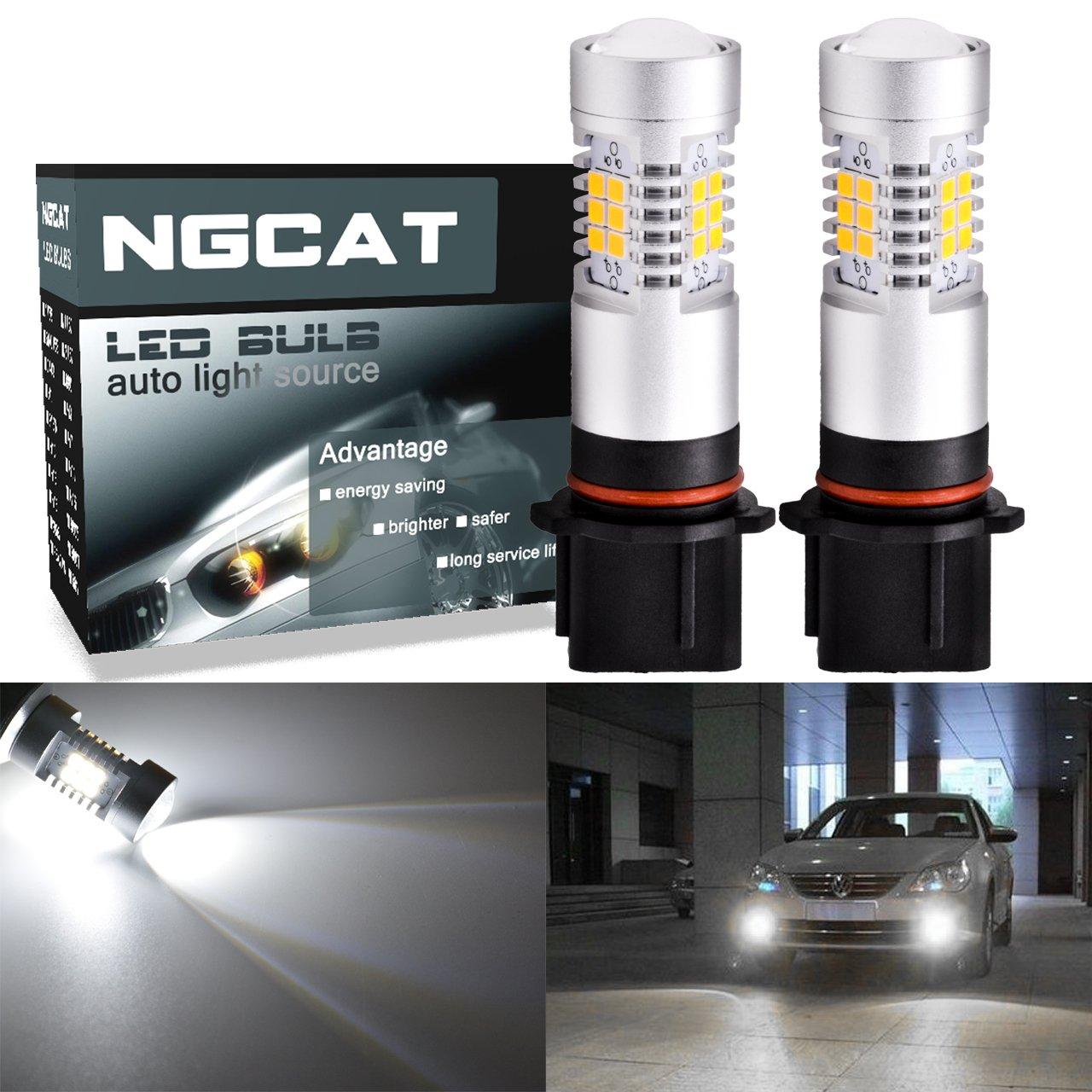 ngcat Auto bombilla LED 2pcs h4 DRL Niebla Luz chipsets 2835 21 SMD bombillas LED con lentes de repuesto proyector coche conducció n luces de conducció n diurna, Xenon Blanco, 10 –  16 V 10,5 W