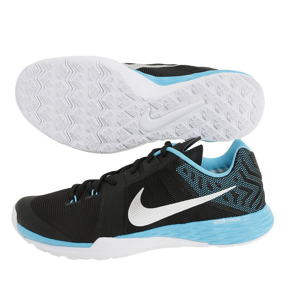 NIKE Men's Train Prime Iron DF Cross Trainer Shoes B01FZ329ZU 14 D(M) US|Black/Metallic Silver/Chlorine Blue