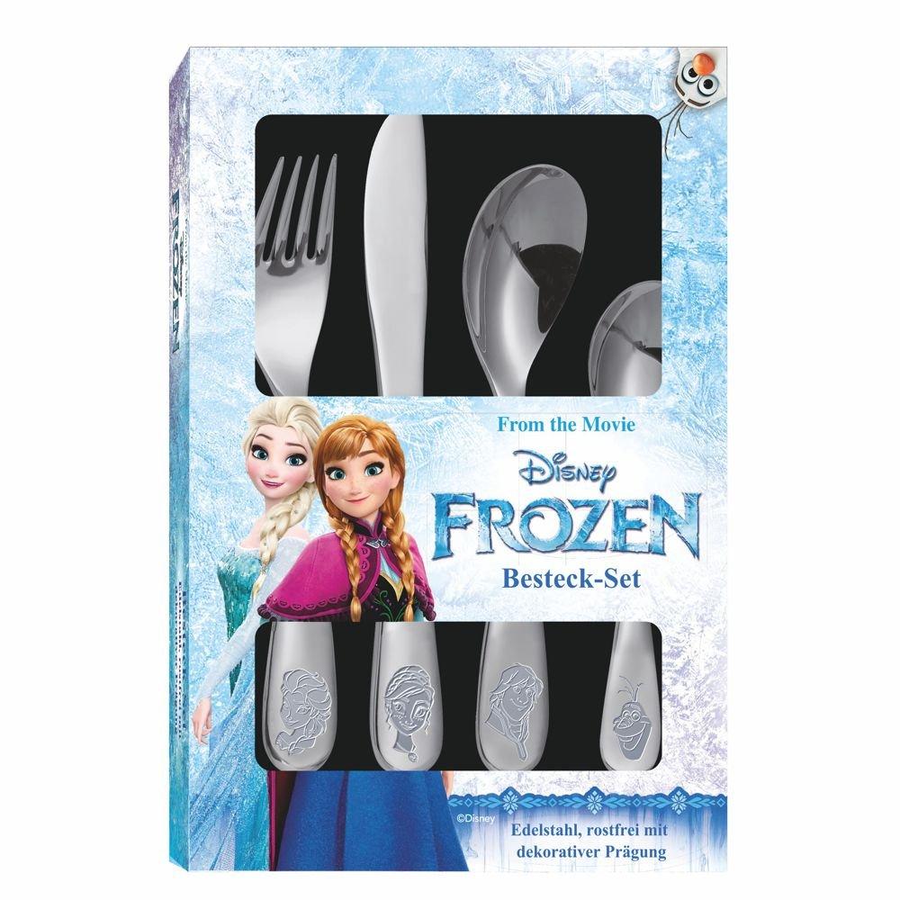Cubiertos | Disney Frozen | 4 Piezas | Acero Inoxidable con Banda Decorativa: Amazon.es: Juguetes y juegos