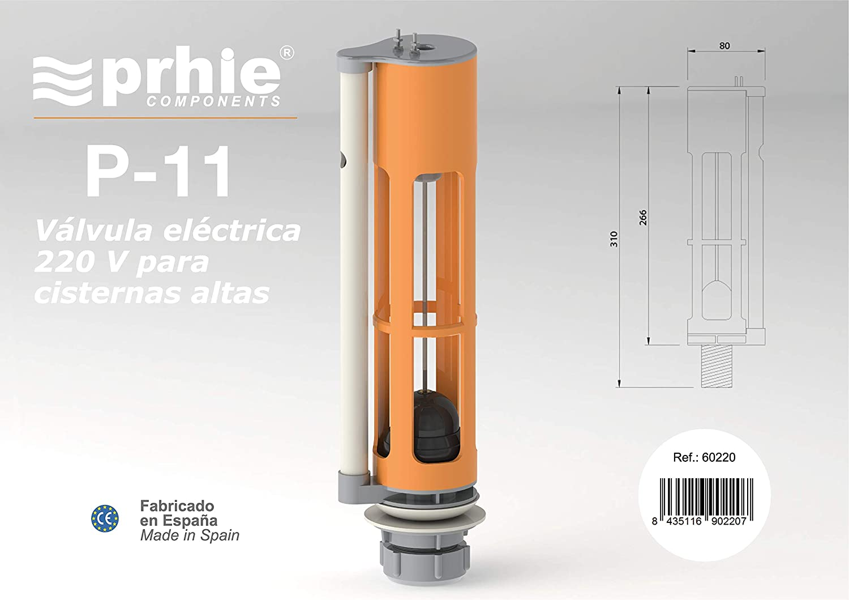 PRHIE Mecanismo Descarga Eléctrico WC Mod. P-11 230V