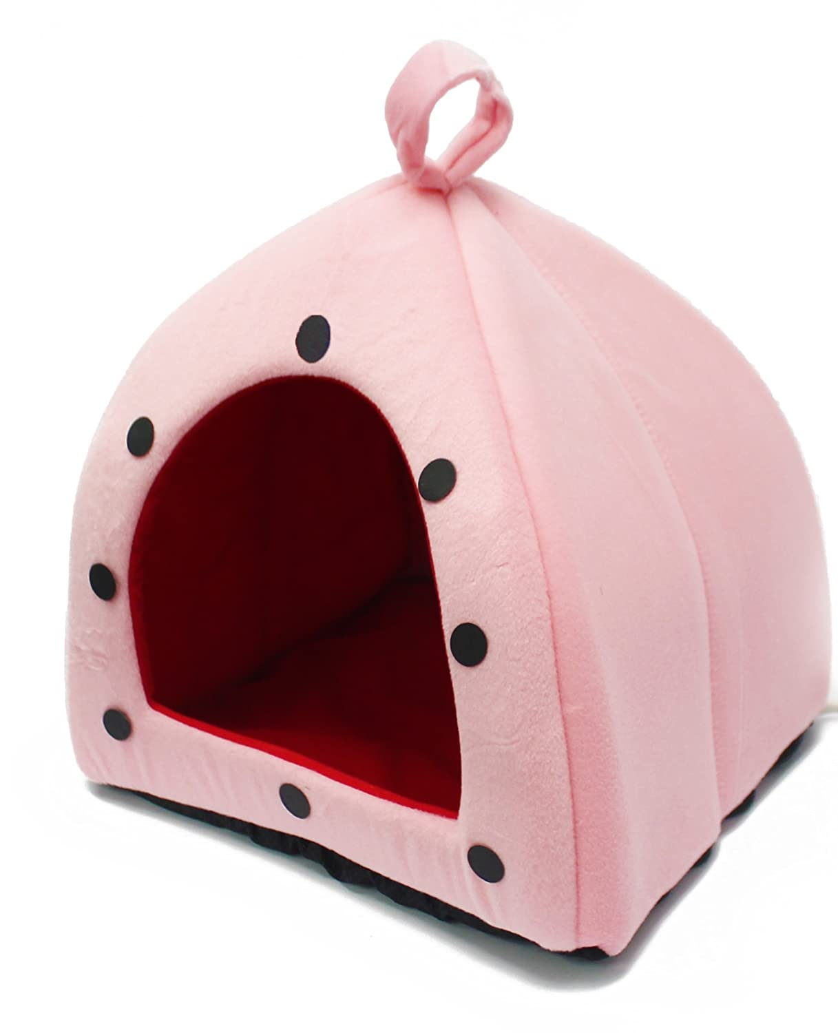 Milliard Indoor Heated Pet Dome - Pink and Blue Vinyl Removable Heating Pad