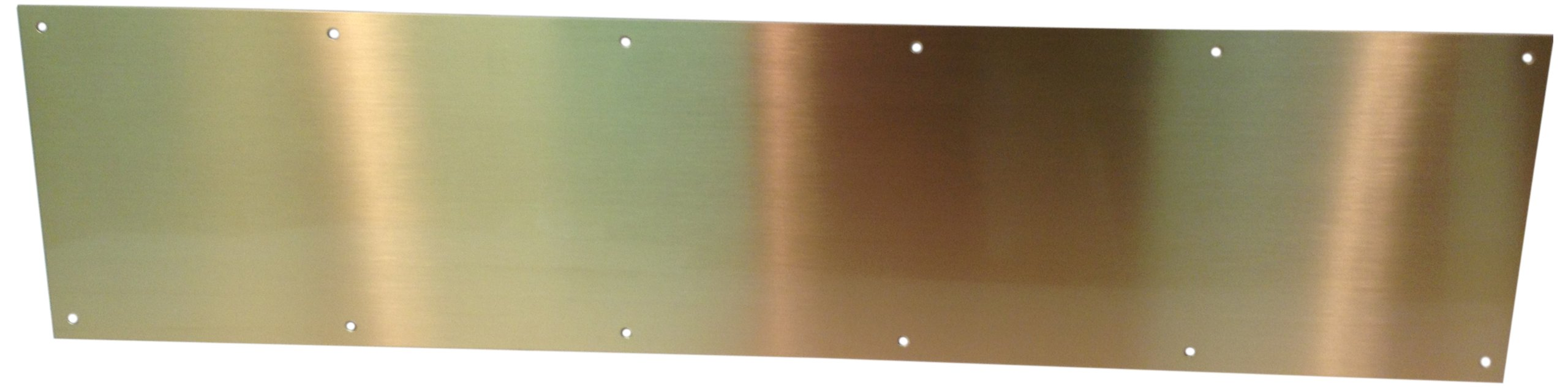 Don-Jo 90 Metal Kick Plate, Satin Bronze Finish, 28'' Width x 6'' Height, 3/64'' Thick