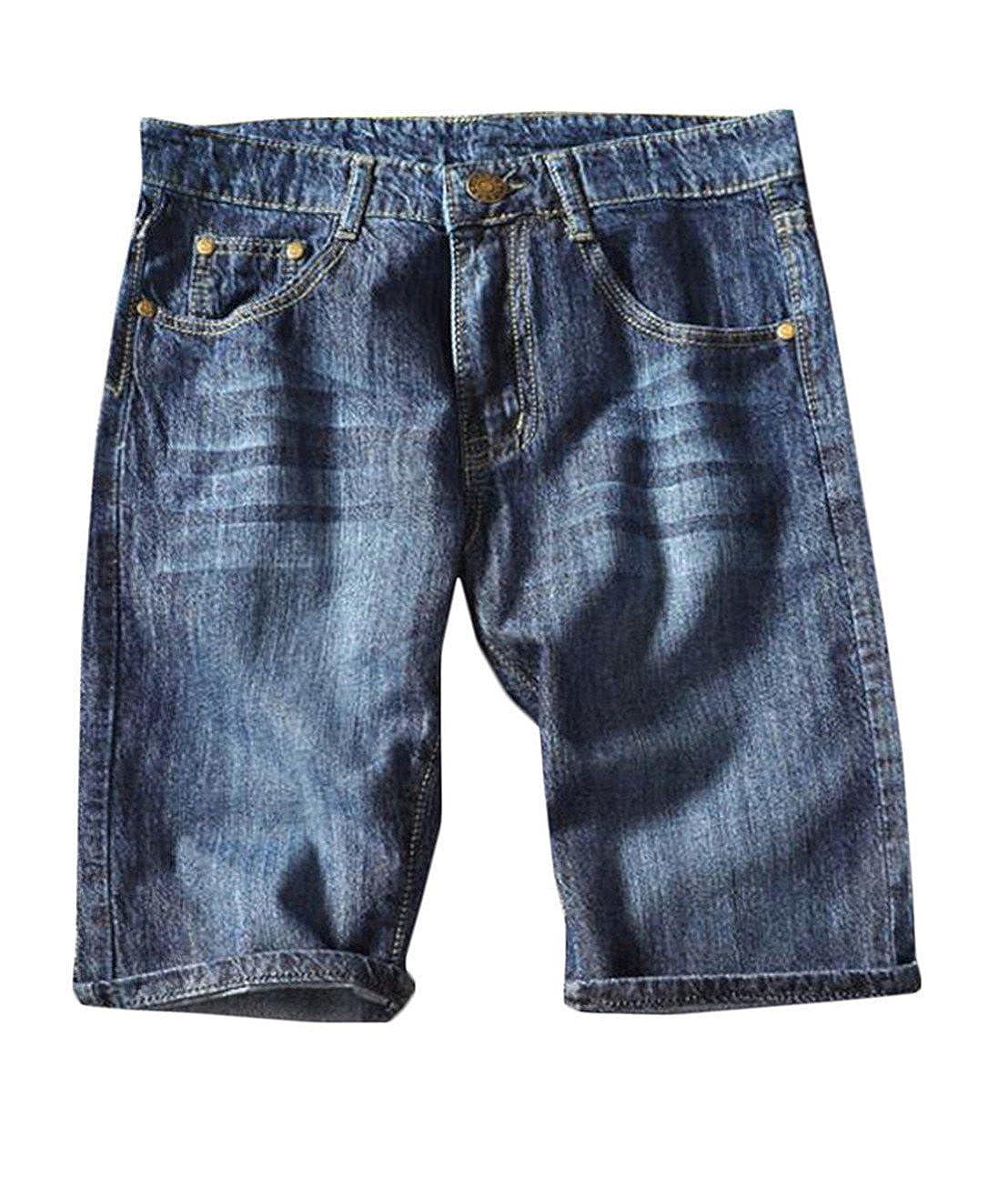 Nanquan-men clothes NQ Mens Ripped Denim Shorts Distressed Jeans Light Washed XL-5XL