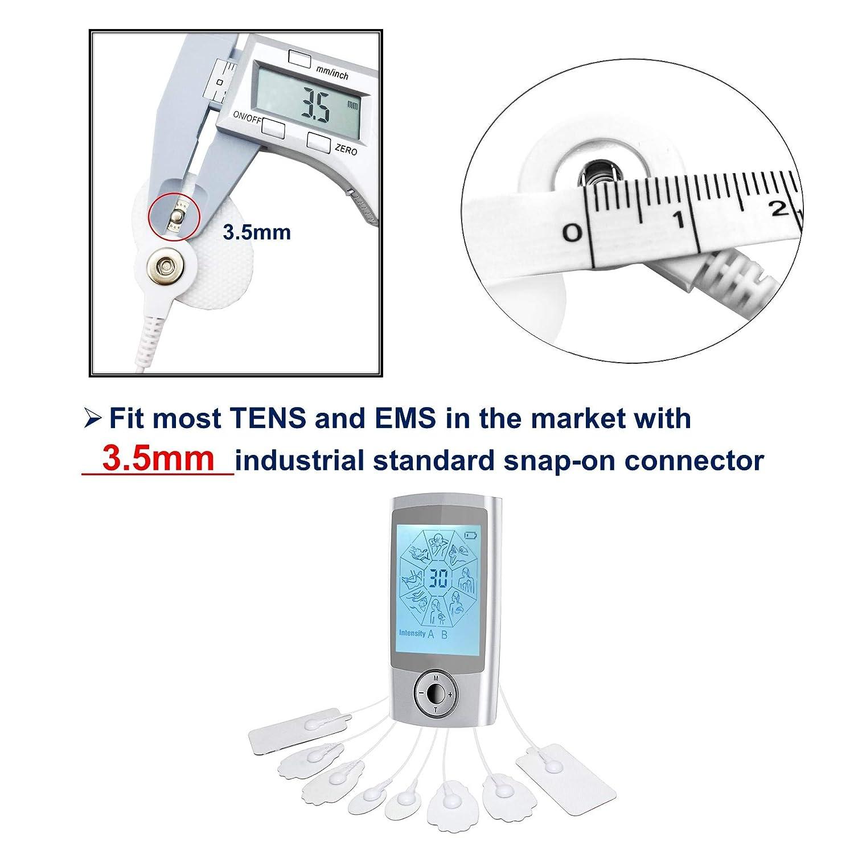 LiteTour 20 Pi/èces TENS /Électrodes Pads la Self-Adhesive Gel Snap Electrodes pour TENS electrostimulation