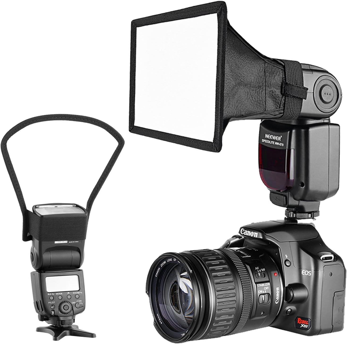 Neewer Cámara Kit de Speedlite Flash Softbox Caja de Luz y Reflector Difusor para Canon Nikon y Otras Cámaras DSLR Flashes, Neewer TT560 TT850 TT860 NW561 NW670 VK750II Flashes: Amazon.es: Electrónica