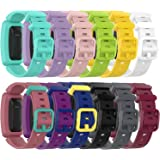 RuenTech Compatible with Fitbit Ace 2 Kid's Band Silicone Water Resistant Fitness Watch Strap for Ace 2 Bands for Kids…