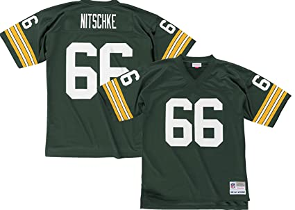 Ray Nitschke Green Bay Packers NFL Mitchell   Ness Green 1966 Throwback  Home Legacy Jersey Jersey e77cc8bb1