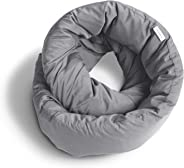 Huzi Infinity Pillow - Versatile Soft Neck Support Scarf Travel Pillow for Sleep in Flight, Airplane