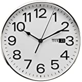 Classic Traditional Quartz Bold Wall clock with Day Date window