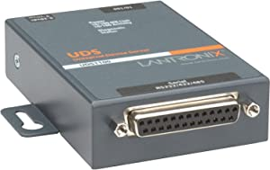 Lantronix UD1100001-01 UDS1100 - One Port Serial (RS232/ RS422/ RS485) to IP Ethernet Device Server - UL864, US Domestic 110VAC - Convert from RS-232, RS-485 to Ethernet using Serial over IP technolog